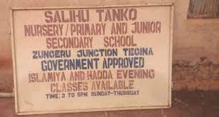 Tanko Salihu Islamiyya School, Tegina, in Rafi Local Government Area of Niger State
